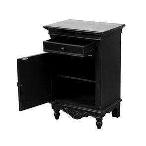 Table de chevet 1 porte 1 tiroir - Romance - Visuel n°2