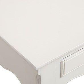 Bureau 2 tiroirs en bois blanc - Romance - Visuel n°11