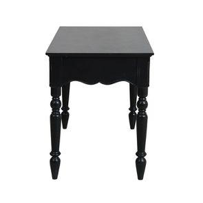 Bureau 2 tiroirs en bois noir - Romance - Visuel n°6