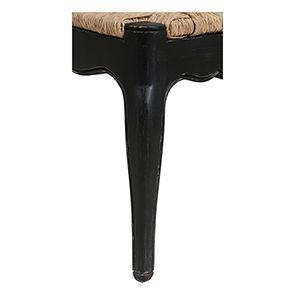 Chaise paillée en bois noir - Romance