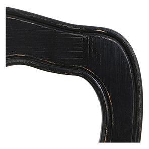Chaise paillée en bois noir - Romance - Visuel n°3