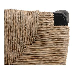 Chaise paillée en bois noir - Romance - Visuel n°4