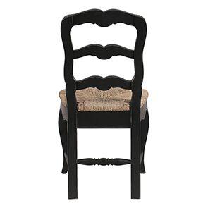 Chaise paillée en bois noir - Romance - Visuel n°9