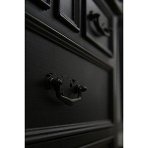 Lit 160x200 avec tiroirs en bois noir - Romance - Visuel n°4