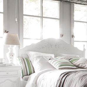 Lit 140x190 avec tiroirs en bois blanc vieilli - Romance - Visuel n°4