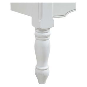 Lit 160x200 en bois blanc vieilli - Romance - Visuel n°4