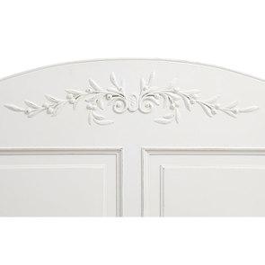 Lit pour literie 180x200 cm en bois blanc vieilli - Romance - Visuel n°8