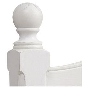 Lit pour literie 180x200 cm en bois blanc vieilli - Romance - Visuel n°9