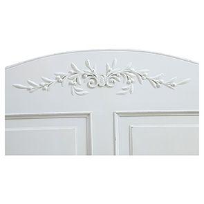 Lit 180x200 avec tiroirs en bois blanc - Romance - Visuel n°4