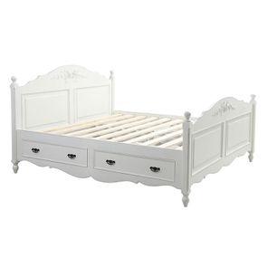 Lit 180x200 avec tiroirs en bois blanc - Romance - Visuel n°6