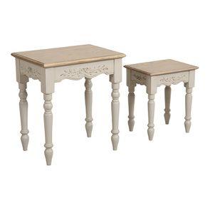Tables gigognes lin vieilli - Romance - Visuel n°3