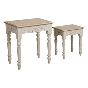 Tables gigognes lin vieilli - Romance - Visuel n°5