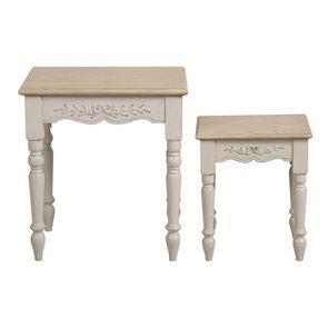 Tables gigognes lin vieilli - Romance - Visuel n°6