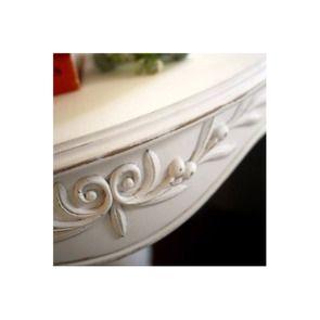 Guéridon blanc en bois - Romance - Visuel n°3
