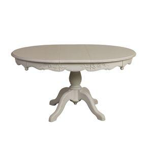 Table ronde extensible blanche 6 à 8 personnes - Romance - Visuel n°3