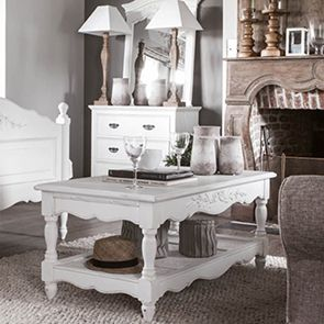 Table basse blanche rectangulaire - Romance - Visuel n°3