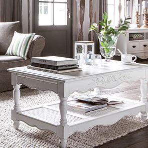 Table basse blanche rectangulaire - Romance - Visuel n°4