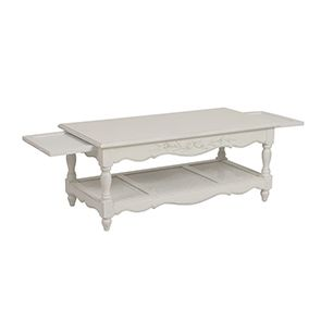 Table basse blanche rectangulaire - Romance - Visuel n°7