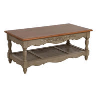 Table basse taupe rectangulaire - Romance