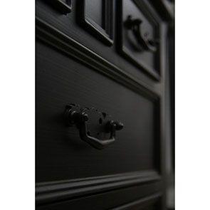 Buffet vaisselier noir 2 portes en bois - Romance - Visuel n°4