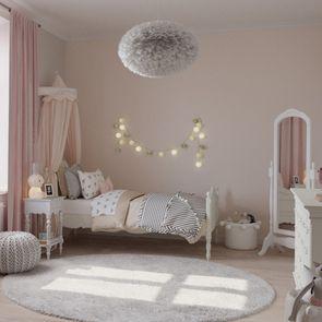 Ciel de lit en bois blanc vieilli - Romance - Visuel n°3