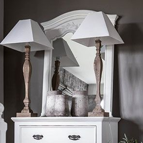 Miroir trumeau blanc en bois - Romance - Visuel n°3