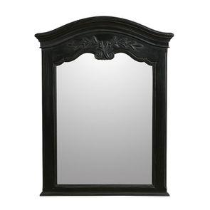 Miroir trumeau noir en bois - Romance