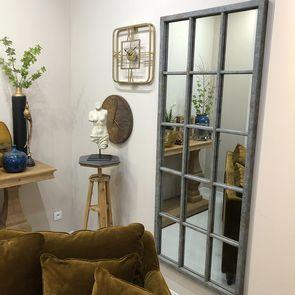 Miroir rectangulaire fenêtre en épicéa massif