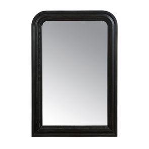Miroir rectangulaire perlé noir - Romance
