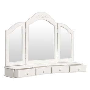 Miroir coiffeuse en bois blanc - Romance - Visuel n°6