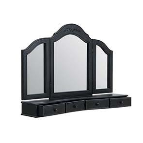Miroir coiffeuse en bois noir - Romance - Visuel n°2