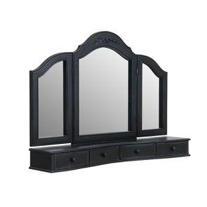Miroir coiffeuse en bois noir - Romance - Visuel n°3