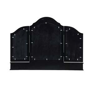 Miroir coiffeuse en bois noir - Romance - Visuel n°5