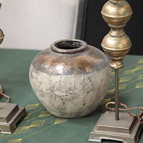Vase béton effet laitonné