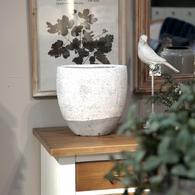 Vase béton effet céramique