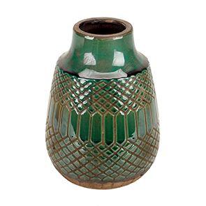 Vase en terre cuite verte