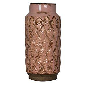 Vase en terre cuite à motifs
