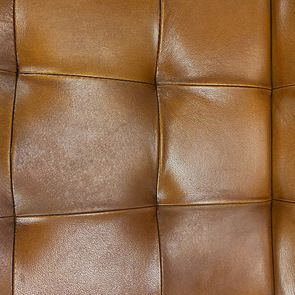 Chaise en cuir de buffle camel - Andrea