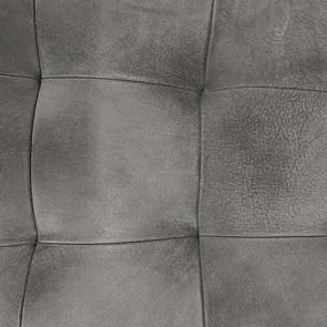 Chaise en cuir de buffle anthracite - Andrea