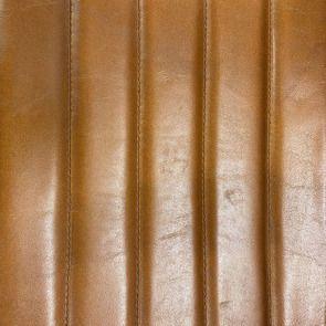 Fauteuil en acier et cuir de buffle camel - Matteo