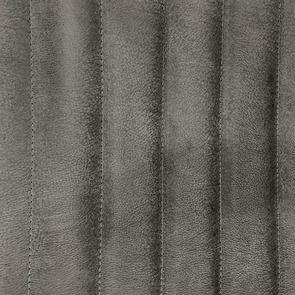 Fauteuil en acier et cuir anthracite - Matteo