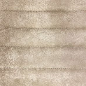 Fauteuil en acier et cuir clair - Matteo