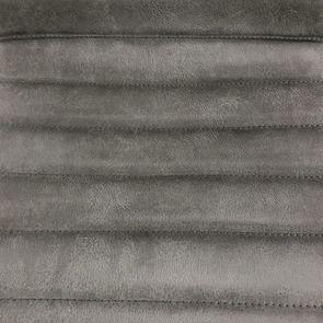 Chaise en acier et cuir anthracite - Marcella