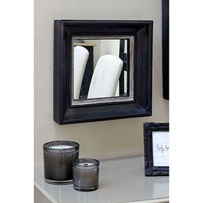 Miroir carré en bois noir et argent - Visuel n°3