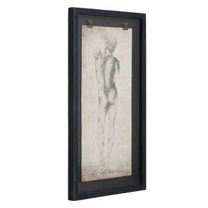 Tableau décoratif gravure homme 50x90 - Visuel n°3