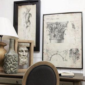 Sculpture encadrée bois clair – Interior's
