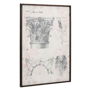 Tableau décoratif dessins architecturaux  65x90