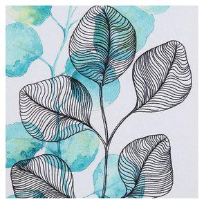 Tableau à motif floral à l'aquarelle - Visuel n°5