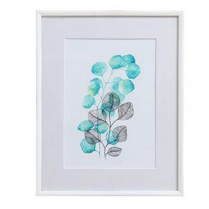 Tableau à motif floral à l'aquarelle - Visuel n°1
