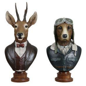 Statues chevreuil + chien